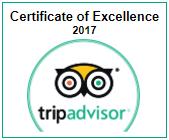 Villa Coco Certificate of Excellence 2017